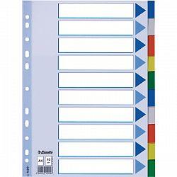 Separatoare A4 Esselte Mylar multicolor din plastic, 5 culori/set