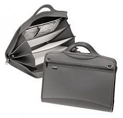 Servieta cu compartimente Zip Grip,Snopake,negru 4 Compartimente