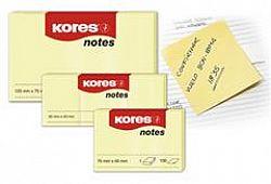 Notes adeziv 50x40mm 100 file, Galben pal, Kores