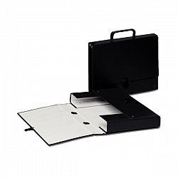 Servieta negru carton Glamour Vivida, Esselte, 1 Compartiment/450 Coli