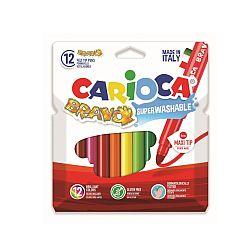 carioca-super-lavabila-varf-gros-6mm-12-culori-cutie-carioca-bravo