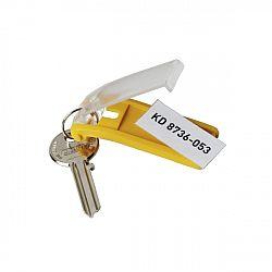 suport-eticheta-pentru-cheie-galben-6-bucati-set-durable