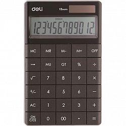 calculator-birou-modern-deli-12-digits-negru