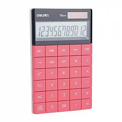 calculator-birou-modern-deli-12-digits-rosu