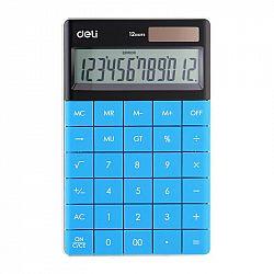 calculator-birou-modern-deli-12-digits-albastru