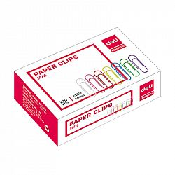 agrafe-birou-33mm-deli-color-100-buc-cutie