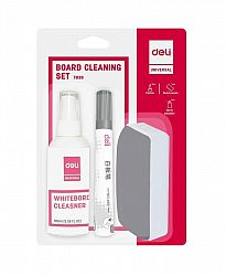kit-whiteboard-burete-spray-2-markere-deli