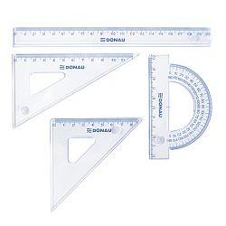 set-geometrie-mic-contine-rigla-20cm-raportor-echer-10-5cm-si-echer-15cm-donau-transparent