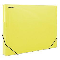 mapa-din-plastic-cu-elastic-pe-colturi-latime-30mm-700-microni-donau-galben-transparent