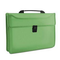 servieta-din-plastic-pp-cu-2-compartimente-cu-inchidere-si-maner-donau-verde-transparent