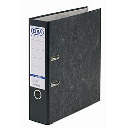biblioraft-a4-margine-metalica-80mm-elba-smart-marmorat-cu-cotor-negru