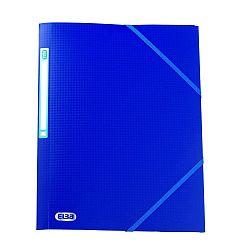 mapa-din-plastic-a4-cu-elastic-elba-memphis-albastru