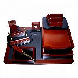 set-birou-8-piese-culoare-lemn-cires