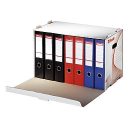 container-arhivare-esselte-standard-bibliorafturi-deschidere-laterala-alb