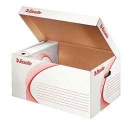 container-arhivare-esselte-standard-deschidere-superioara-alb-alb