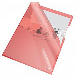 mapa-de-protectie-esselte-a4-cristal-150-microni-25-buc-set-rosu