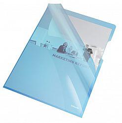 mapa-de-protectie-esselte-a4-cristal-150-microni-25-buc-set-albastru