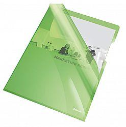 mapa-de-protectie-esselte-a4-cristal-150-microni-25-buc-set-verde
