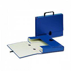 servieta-carton-cu-maner-glamour-esselte-1-compartiment-albastru