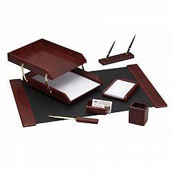 set-birou-7-piese-culoare-lemn-cires