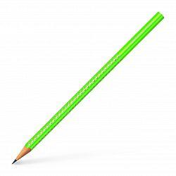 creion-grafit-grip-sparkle-2018-faber-castell-verde-neon