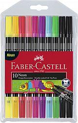 carioca-10-culori-2-capete-culori-neon-faber-castell