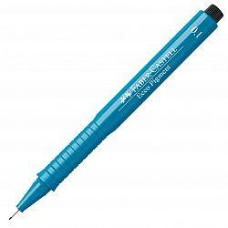 liner-cu-capilarii-faber-castell-ecco-pigment-0-10-mm-albastru