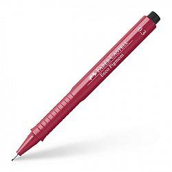 liner-cu-capilarii-faber-castell-ecco-pigment-0-30-mm-rosu