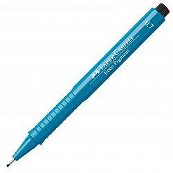 liner-cu-capilarii-faber-castell-ecco-pigment-0-70-mm-albastru