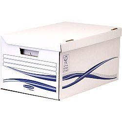 container-arhivare-cu-capac-bankers-box-fellowes-alb