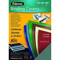 coperta-a4-carton-fellowes-verde-inchis