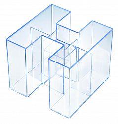 suport-pentru-instrumente-de-scris-han-bravo-transparent-cristal-cu-margine-albastra