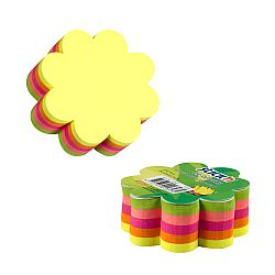notes-autoadeziv-die-cut-floare-67-x-67-mm-5-x-50-file-set-stick-n-5-culori-fluorescente
