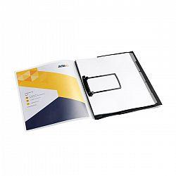 dosar-plastic-cu-elastic-alonja-jalema-clip-buzunar-prezentare-5-separatoare-jalema-negru