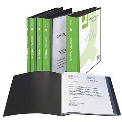 dosar-de-prezentare-personalizabil-cu-40-folii-a4-coperta-rigida-q-connect-negru