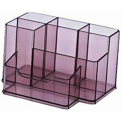 suport-plastic-pentru-accesorii-de-birou-6-compartimente-kejea-fumuriu