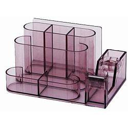 suport-plastic-pentru-accesorii-de-birou-7-compartimente-kejea-fumuriu