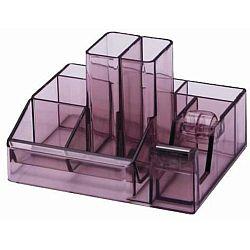 suport-plastic-pentru-accesorii-de-birou-8-compartimente-kejea-fumuriu