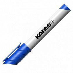 marker-whiteboard-kores-varf-rotund-albastru