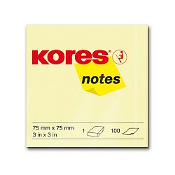 notes-adeziv-hartie-kores-75-x-75-mm-galben-pastel-100-file-set