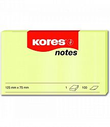 notes-adeziv-hartie-kores-75-x-125-mm-galben-pastel-100-file-set