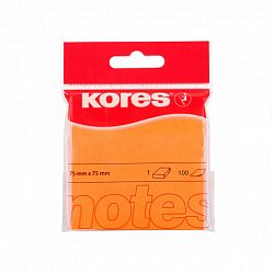 notes-adeziv-hartie-kores-75-x-75-mm-portocaliu-100-file-set