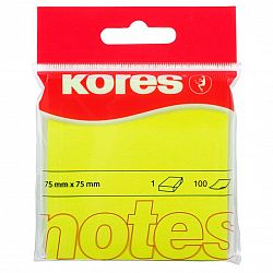 notes-adeziv-hartie-kores-75-x-75-mm-galben-100-file-set