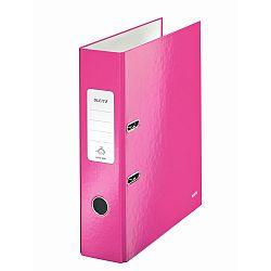 biblioraft-leitz-180-wow-a4-85mm-carton-laminat-roz-metalizat