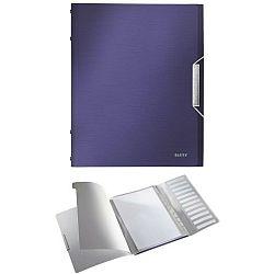 mapa-leitz-style-din-plastic-cu-12-separatoare-albastru-violet