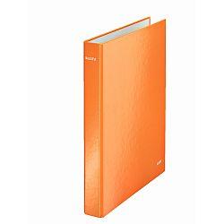caiet-mecanic-leitz-wow-mecanism-2dr-inel-25mm-carton-laminat-portocaliu-metalizat