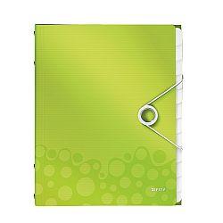 mapa-leitz-wow-cu-12-separatoare-pp-verde-metalizat