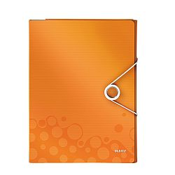 mapa-leitz-wow-pentru-conferinte-pp-portocaliu-metalizat