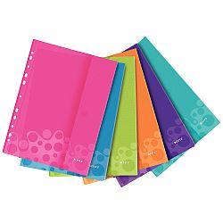 folie-de-protectie-color-leitz-wow-cu-arici-200-microni-6-buc-set-mix-6-culori