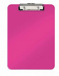 clipboard-simplu-a4-wow-leitz-80-coli-roz
